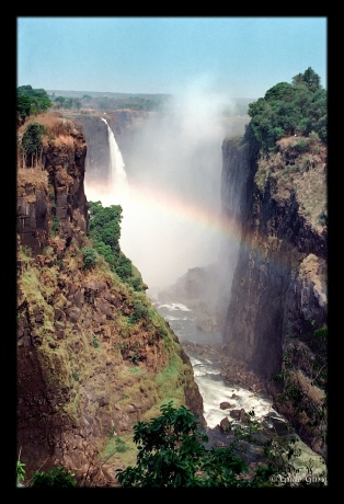 Rainbow at Victoria Falls, Zimbabwe