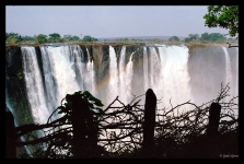 Rainbow at Victoria Falls, Zimbabwe
