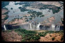 Victoria Falls from the air, Zimbabwe