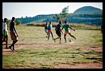 Football match, Manicaland, Eastern Highlands, Zimbabwe