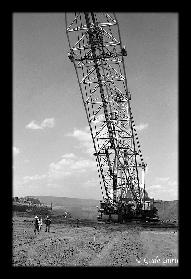 Hwange Open Cast Coal Mine, Zimbabwe