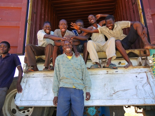 The unloading supervisor and his team