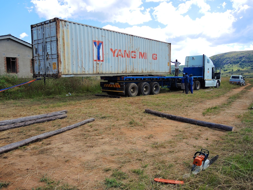 how to cut a shipping container in half