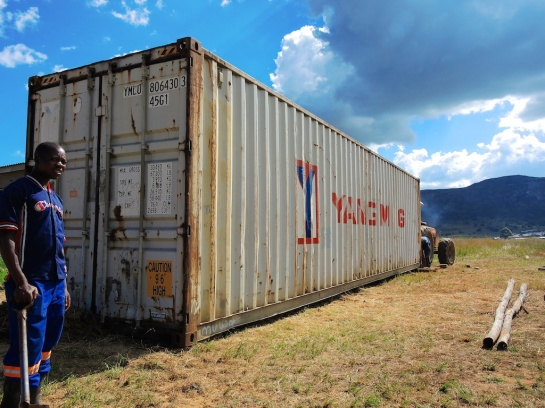 40ft high cube Yang Ming in Nyanga, Zimbabwe
