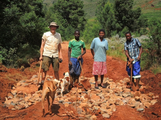 Repairing the Road, Troutbeck, Zimbabwe