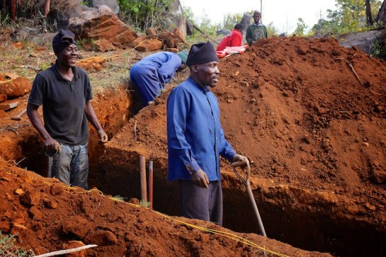 Mr Tongai & Mr Didymus in the easy trench