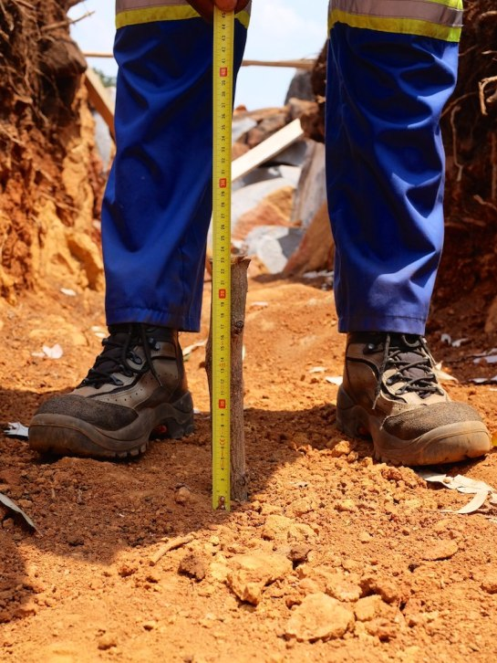 Measuring for the footings