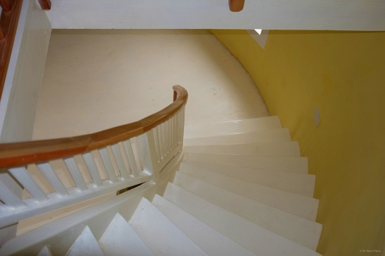 Looking down those stairs