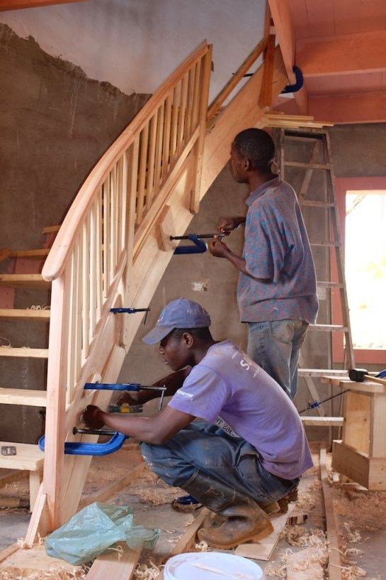 Bannisters go on