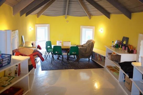 Montessori school room upstairs in Tadpole