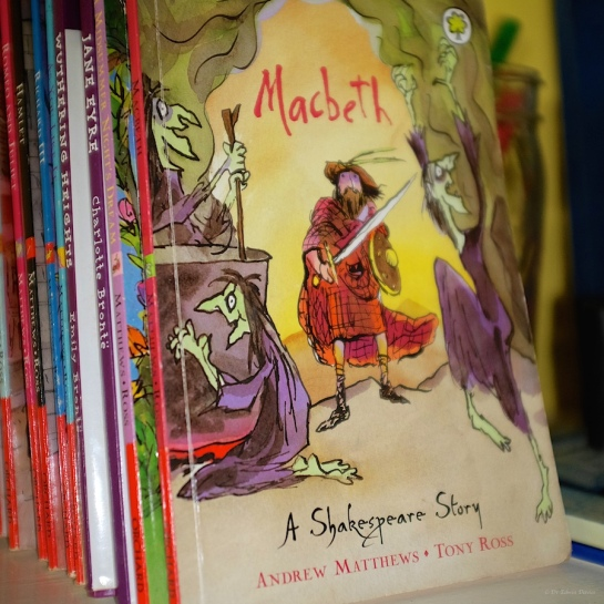 The Scottish play in our school library