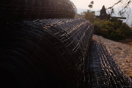 Bitumin dipped Bonox fencing