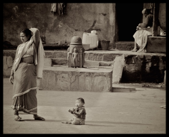 Baby and Mother in Kathmandu
