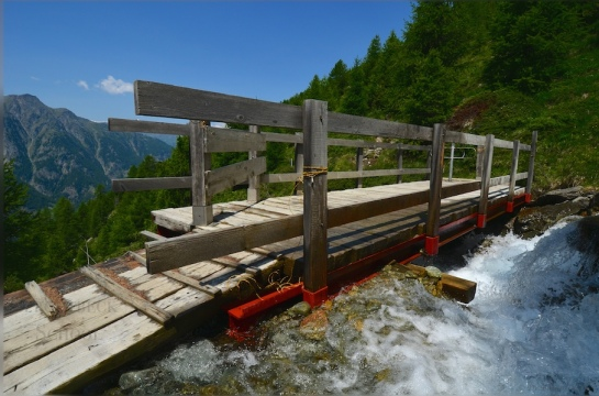 Someone takes their alpine bridge maintenance seriously