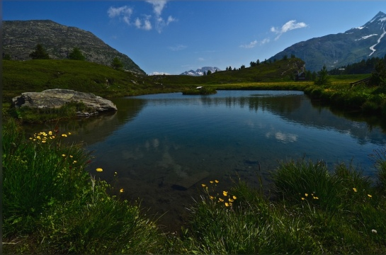 Lake at Simplonpass