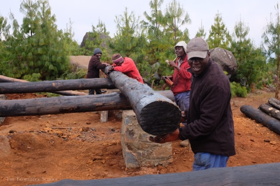 Building a real log cabin in Zimbabwe 4