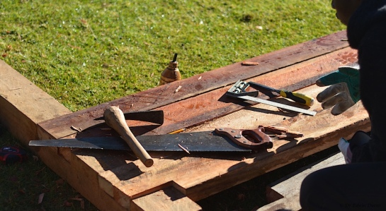Simple tools of the trade - a saw and adze
