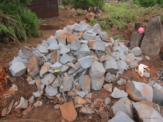 We have produced stones for our next building project (or HALBs -  semi-finished products in SAPanese)