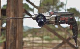 Drilling Eucalyptus with 450 mm rebar drillbit