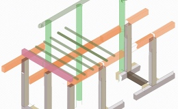 Post and beam isometric construction drawings